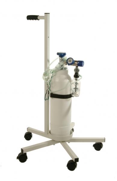 Oxyparat Mobiles Sauerstoffgerät mit Fahrgestell Komplett 5 Liter einstellbar