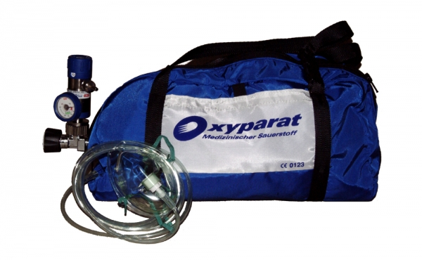 Oxyparat Mobiles Sauerstoff-Komplett-Gerät regelbar mit Tasche