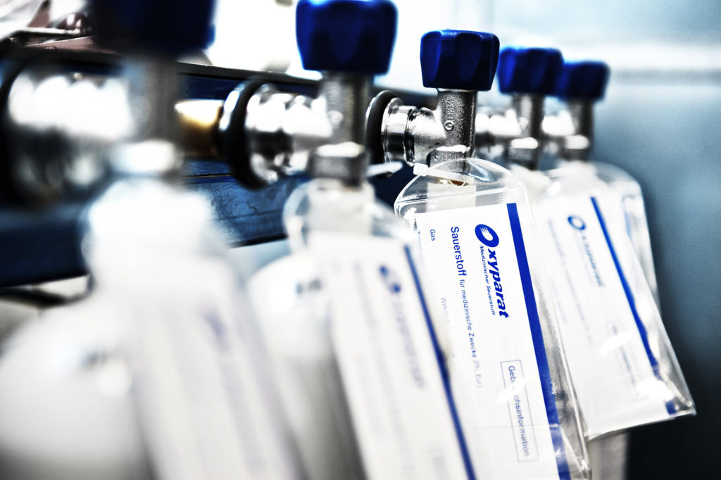 medizinische sauerstoffflasche füllen